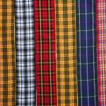 Scottish tartan fabric tapes pattern background — Stock Photo #5508573