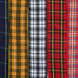 Scottish tartan fabric tapes pattern background - Stock Photo