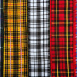 Scottish tartan fabric tapes pattern background — Stock Photo