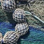 Lead balls fishing trawler net tackle — Stock Photo #5508582