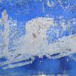 Blue grunge aged paint wall texture background - 