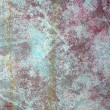 Grunge red green aged paint wall texture — Stock Photo