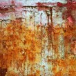 Rusty weathered painted iron aged metal - Stok fotoraf