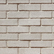 Precast concrete white bricks brickwall wall — Stock Photo