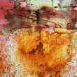 Rusty grunge aged steel iron paint oxidized texture — Stock Photo