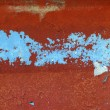 Grunge red and blue aged wall texture background - 