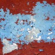 Grunge red and blue aged wall texture background - Stok fotoraf