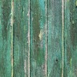 Aged weathered green wooden paint door textures — Stockfoto