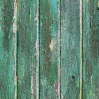 Aged weathered green wooden paint door textures - Stock Photo