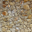 Masonry stone wall rock construction pattern - Stock Photo