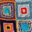 Crochet patchwork colorful pattern handcraft - Stockfoto