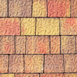 Pavement flooring outdoor texture colorful - Stock Photo
