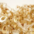 Golden jewel messy wired texture balls and oval - Stockfoto