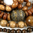 African wooden necklaces jewellery texture — Stock fotografie