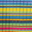 Colorful vibrant fabric color lines like rainbow - Stock Photo