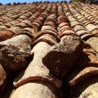 Clay roof tiles old aged arabic style in Spain — Stock Photo