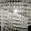 Crystal strass lamp white over black background — Stock Photo #5508919