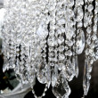crystal strass lamp white over black background — Stock Photo #5508924