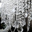 Stock Photo: Crystal strass lamp white over black background