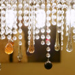 Foto Stock: Colorful crystal strass lamp detai