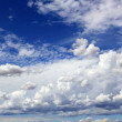 Stock Photo: Blue sky skyscape with clouds dramatic shapes