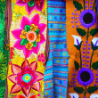 Stock Photo: Colorful Mexicserape fabric handcrafted