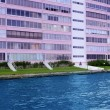 Stock Photo: FloridPompano Beach pink building in waterway