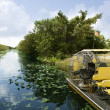 Airboat in Everglades Florida Big Cypress — Stock Photo