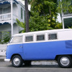 Key West vintage parked van in South Florida — Stock Photo