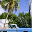 Key West vintage parked car in South Florida - Stock Photo