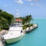 Florida Keys fishing boats in turquoise waterway — Stock Photo