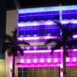 Blurred night colorful lights in Miami Beach — Stock Photo