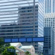 downtown miami urban city skyscrapers buildings — Stock Photo