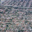 Aerial view of residential houses in Texas - Stock Photo