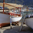 Royalty-Free Stock Photo: Mallorca Soller port harbor with wooden boats