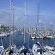 Barcelona city sport port Mediterranean sea — Stock Photo