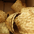 Africtraditional handcraft round baskets — Stock Photo #5509445