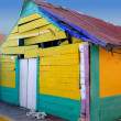 Caribbean Mexican grunge colorful house - Stok fotoraf