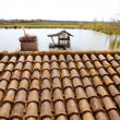 Clay old roof tiles pattern in Spain - Lizenzfreies Foto