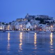 Ibiza island night harbor in Mediterranean — Stock Photo #5509648