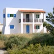 Formentera near Ibiza island white houses - Stock Photo