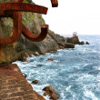 Chillida rusty steel sculpture in San Sebastian - Stock Photo