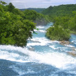 Agua Azul waterfalls blue water river in Mexico - Stock Photo