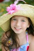 美丽少女的特写肖像 — 图库照片