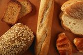 Varied bread still life — Stock Photo