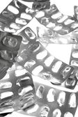 Pills tabs blister silver texture — Stock Photo