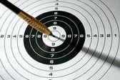 黑色和白色目标与 dart 和阴影 — 图库照片