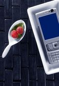 Technologic menu with spoon — Stock Photo