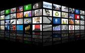 Grote paneel van tv scherm internet business — Stockfoto
