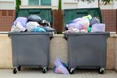 Trash garbage full container in street — Stock Photo
